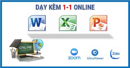 Dạy Tin học văn phòng Online kèm riêng 1-1